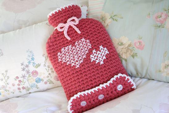free crochet pattern hot water bottle cover