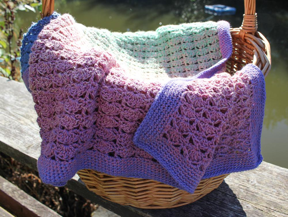 Seashore Baby Blanket in Scheepjes Whirl