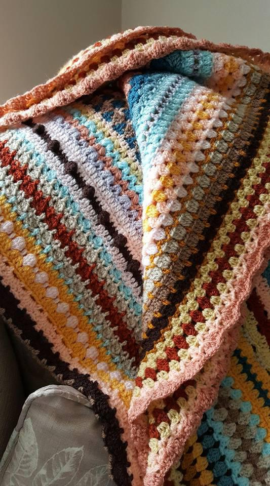 Spicier Life CAL Blanket | Black Sheep Wools | Cherry Heart