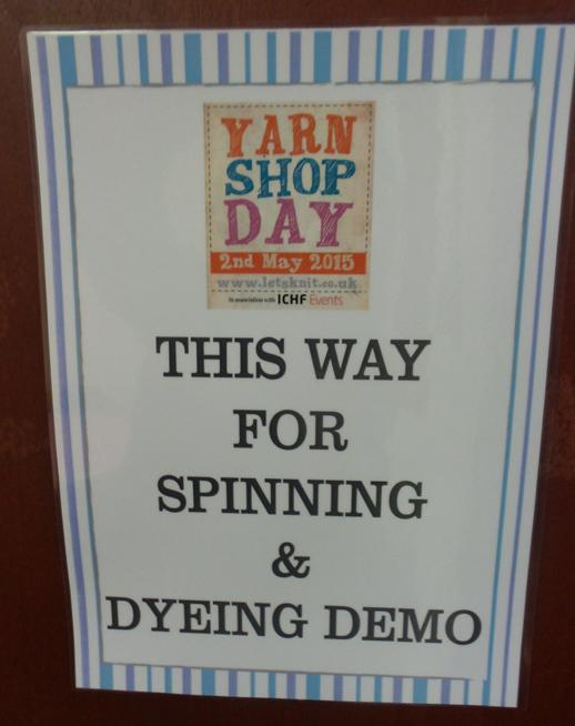 yarn shop day 2015 spinning